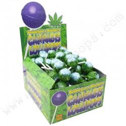 Sucettes Cannabis Blueberry x Bubble Gum
