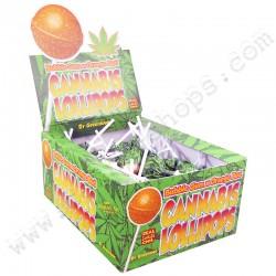 Sucettes Cannabis Orange...